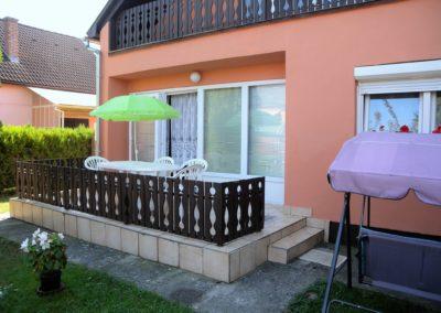 Balatoni apartman - Terasz